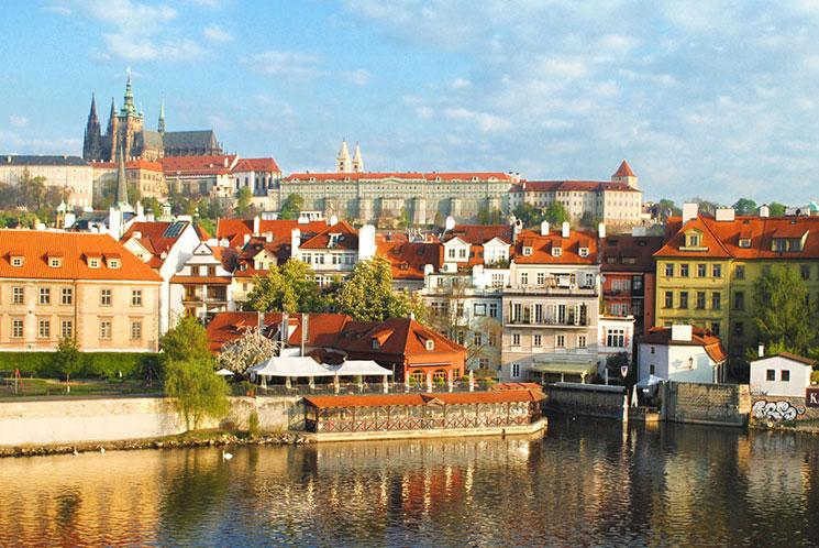 プラハの美しい街並み
