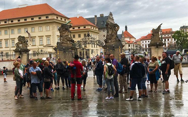 プラハ城の第1中庭