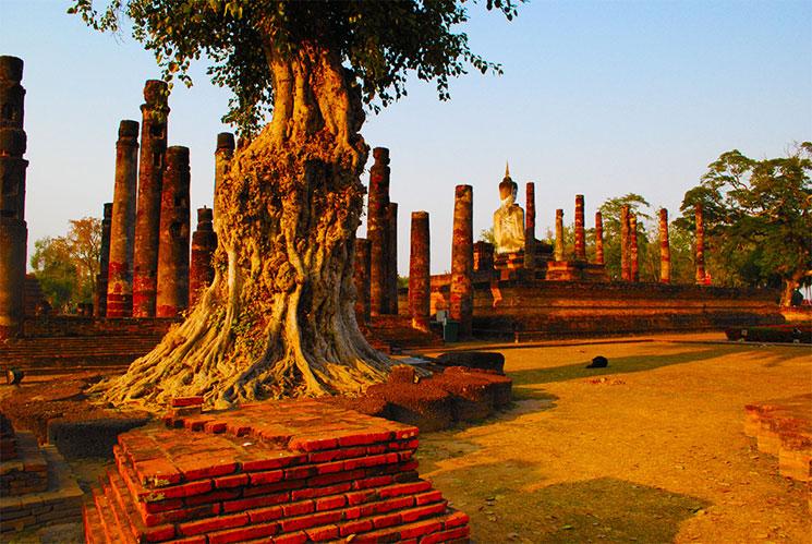 寺院中央を斜め後ろから撮影