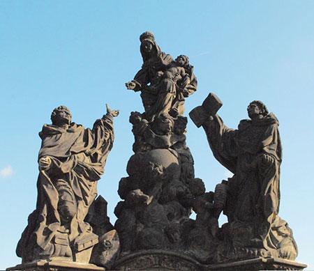 聖母と聖ドミニク、トマス・アクゥナス
