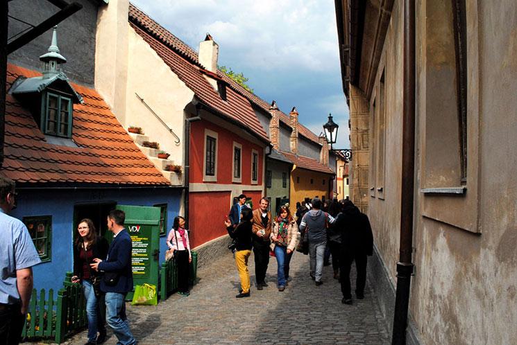 プラハ城 黄金小路の景観
