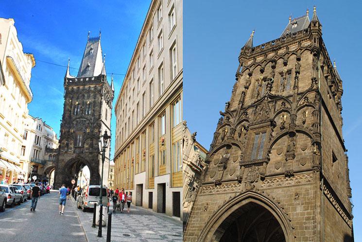 旧市街の入口「火薬塔」