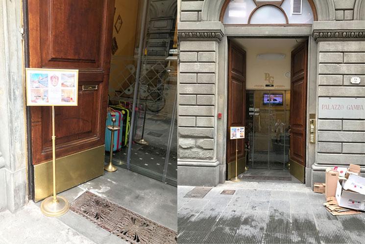パラッツォ ガンバ ラグジュアリー アパートメンツ 」の入口