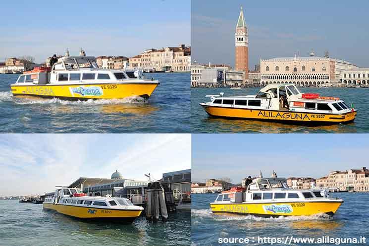 ヴェネチア空港の水上バス