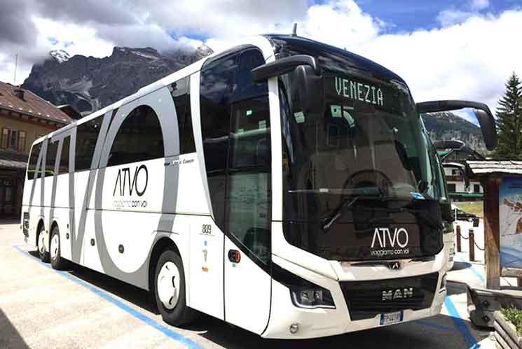 ヴェネチア空港のシャトルバス