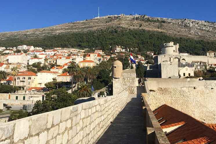 ドブロブニク旧市街の城壁