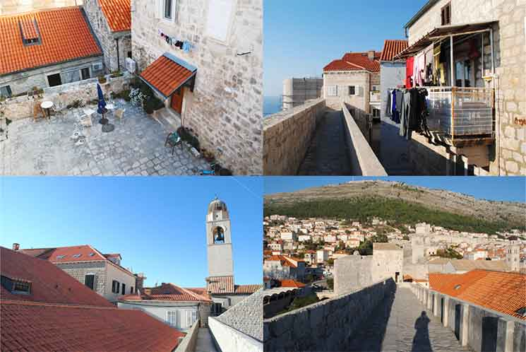 多種多様の城壁から景色