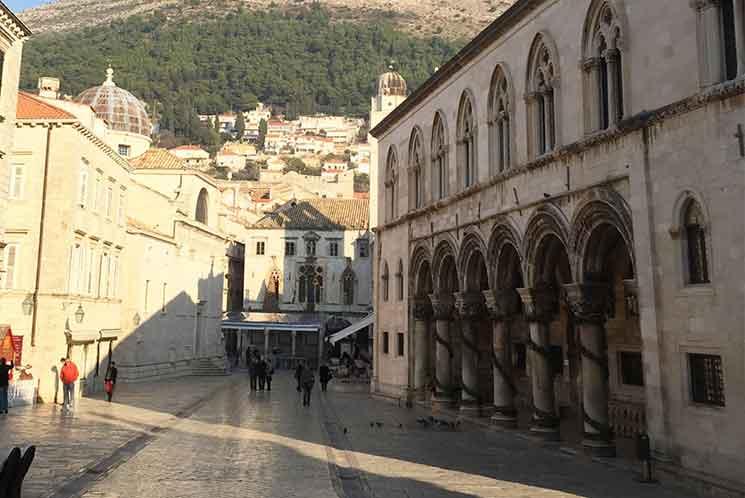 ドブロブニク旧市街の景観
