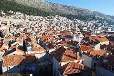 民族博物館から見る旧市街とスルジ山の景観