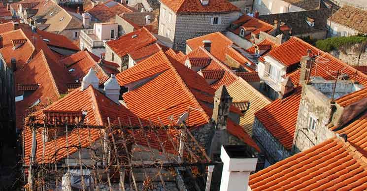 ドブロブニク旧市街 オレンジ色の屋根