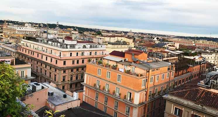 ベットーヤ ホテル メディテラネオのテラスからの景色