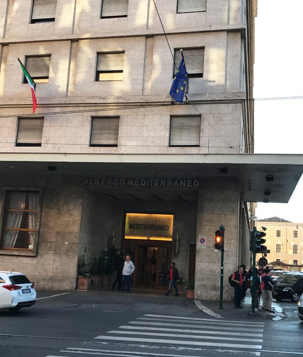 「ベットーヤ ホテル メディテラネオ」の外観