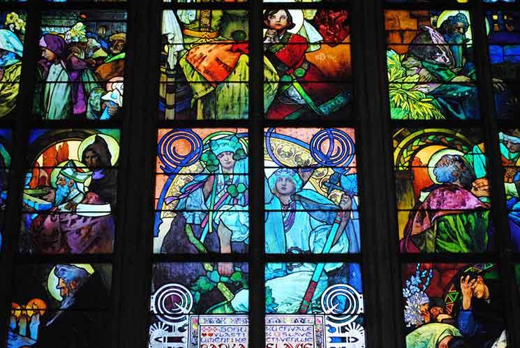 アルフォンス・ムハの作品「聖キリルと聖メトディウス」の一部分