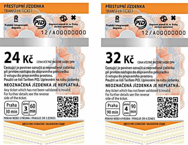 プラハ地下鉄の「30分間チケット」