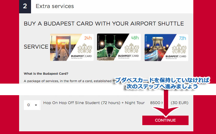 ブダペストカードの割引サービス