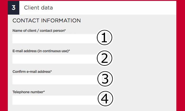 利用者情報の入力欄