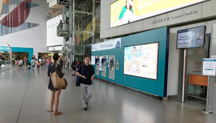 香港駅構内の写真