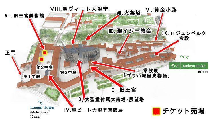 プラハ城 城内マップ