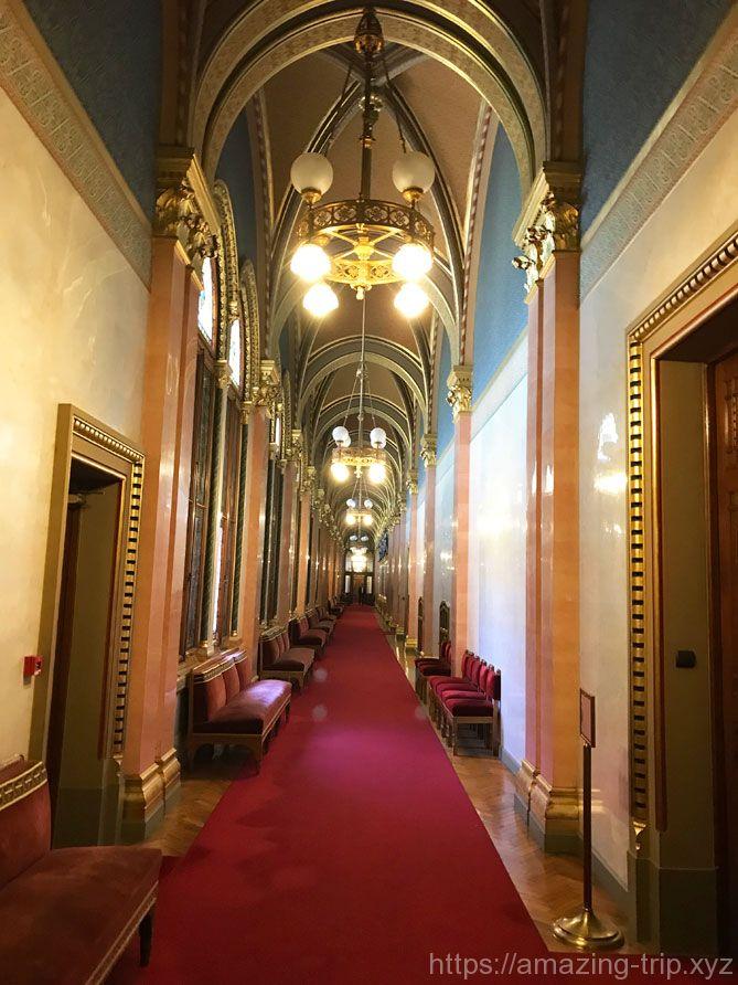 国会議事堂内の通路