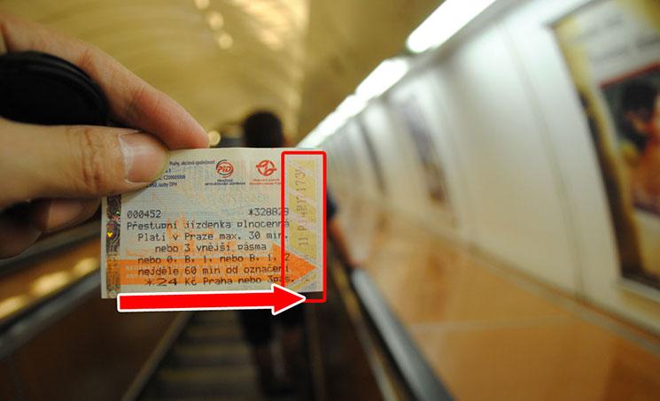 チケットの打刻例
