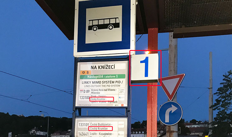 バス停の掲示板