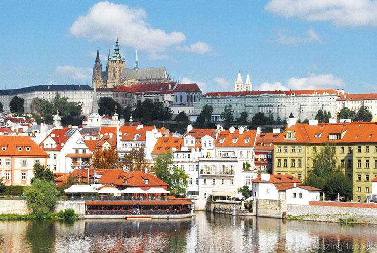 カレル橋から見るプラハ城の絶景