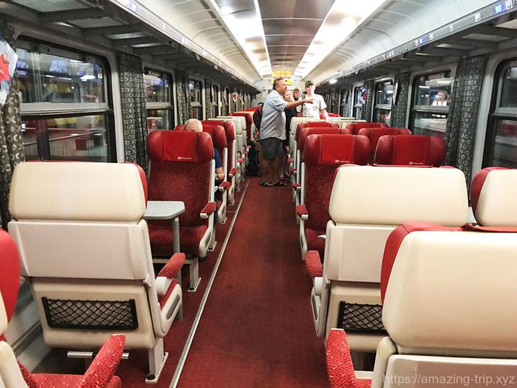 プラハ国鉄 列車内の様子