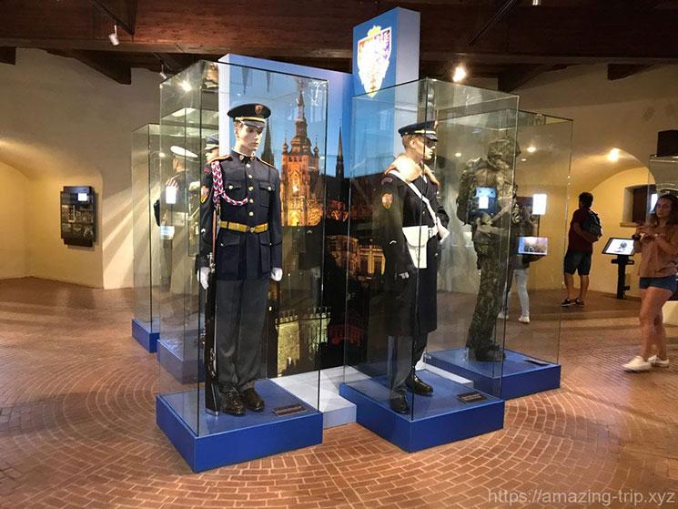 展示されている衛兵の制服