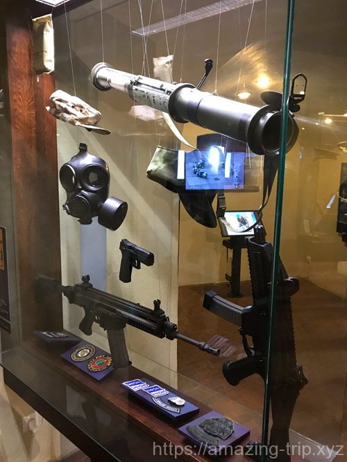 武器と紋章の展示
