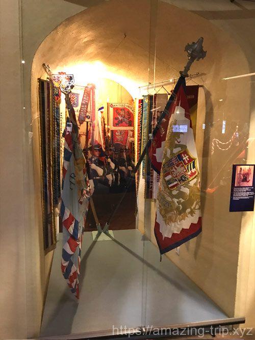 展示品の旗