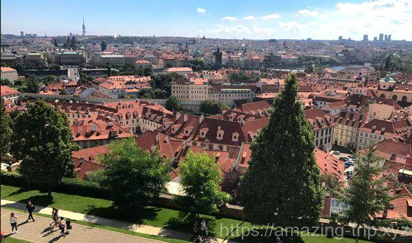 ロジュンベルク宮殿の窓からの絶景