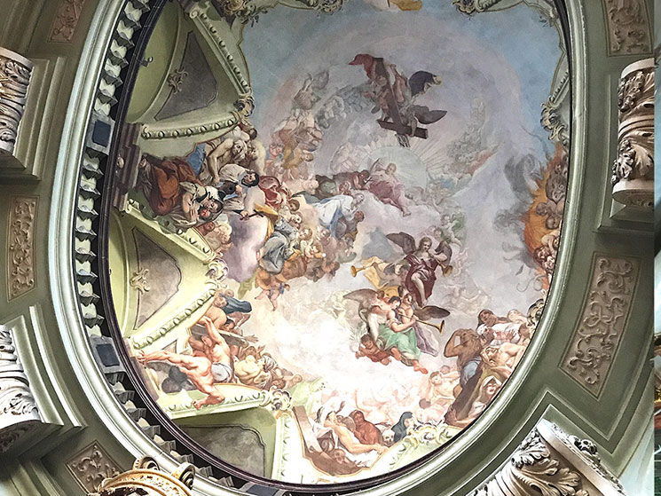 壁面のフレスコ画