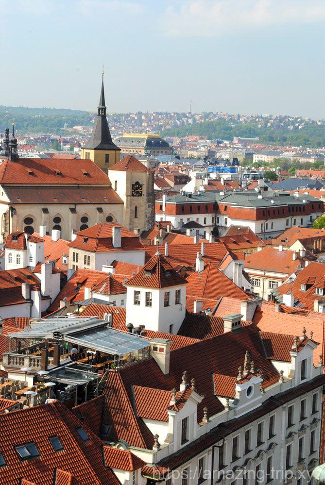 時計塔から見るプラハ旧市街
