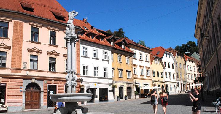 リュブリャナ旧市街の街並み