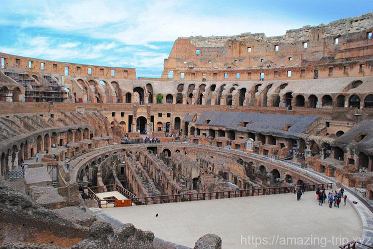 コロッセオ内部の景観 闘技場跡