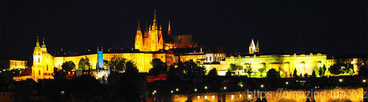 プラハ 夜の景観