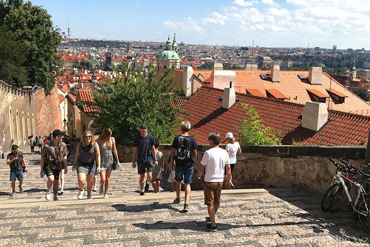 プラハ 王の道の階段
