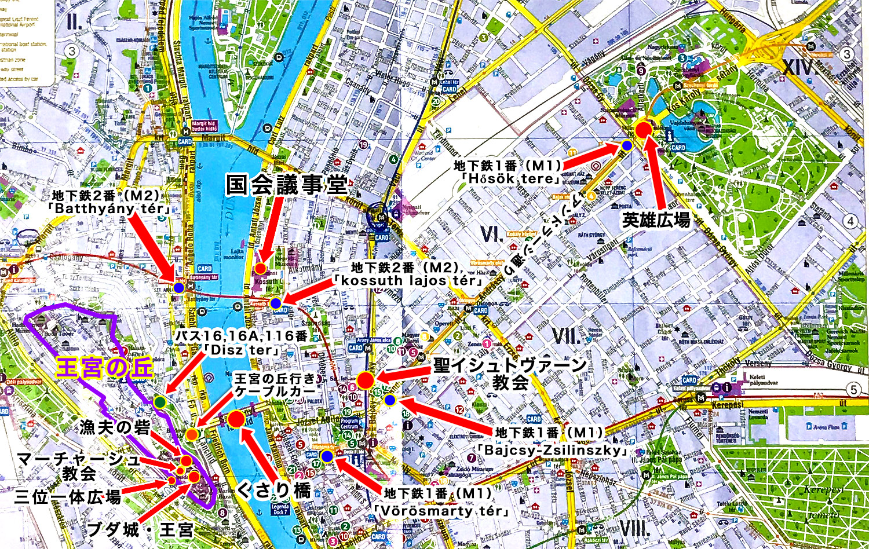 ブダペストの詳細地図