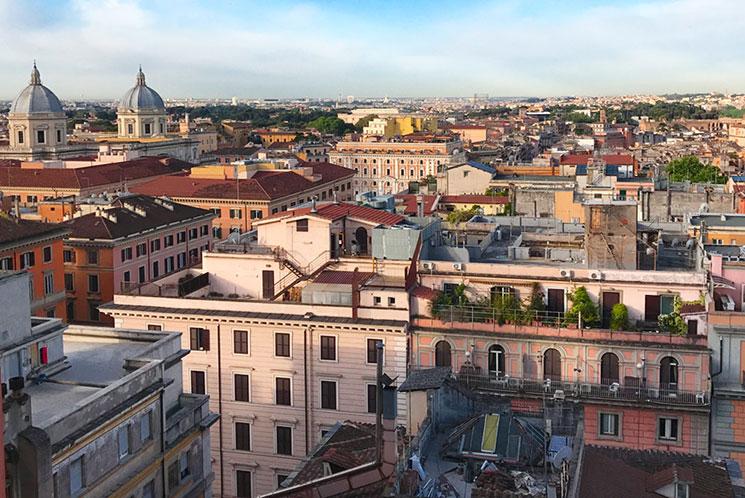 ローマ市内の街並み