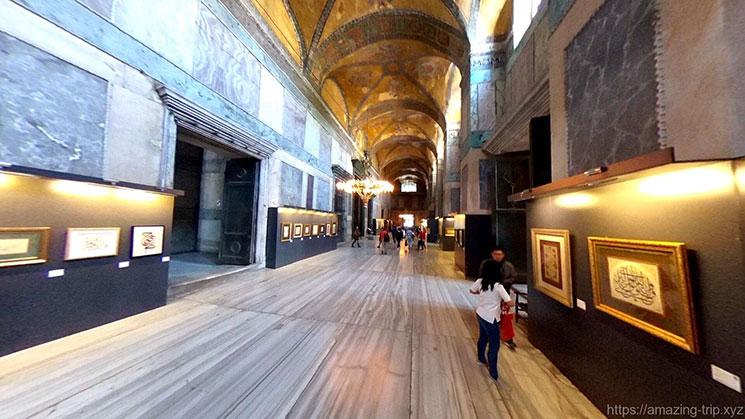 アヤソフィア一階の拝廊