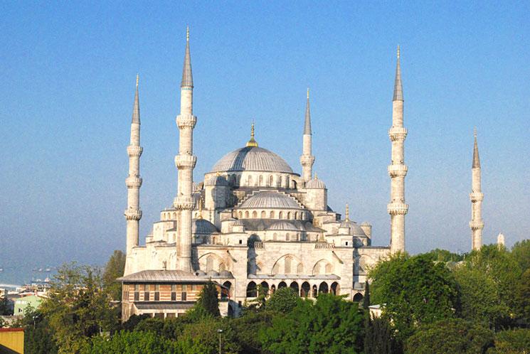 イスタンブール ブルーモスクの景観