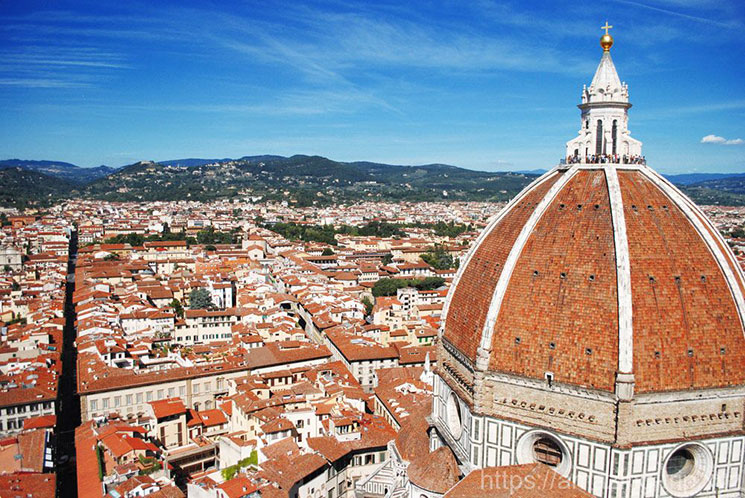フィレンツェとドゥオーモの景観