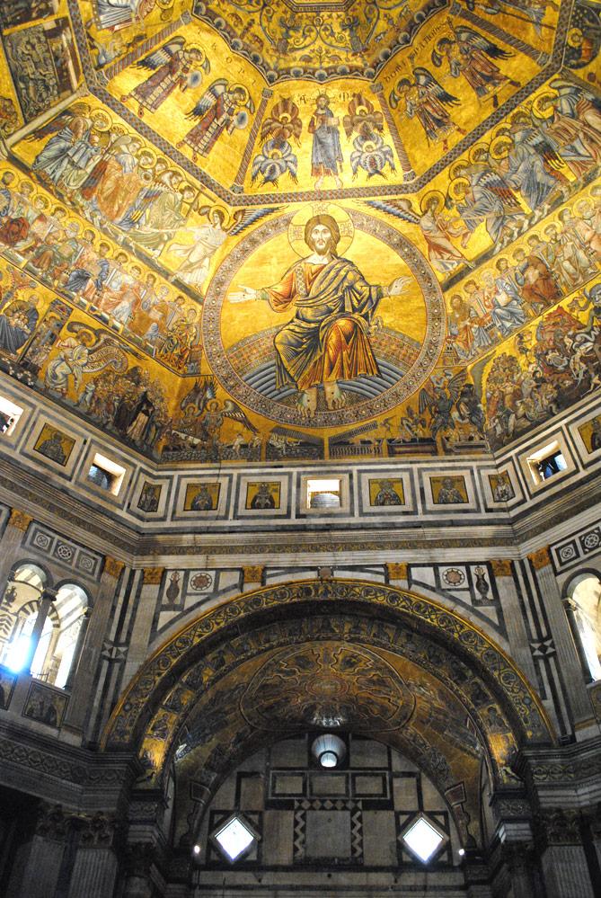 ミケランジェロの最後の審判を題材にした天井画