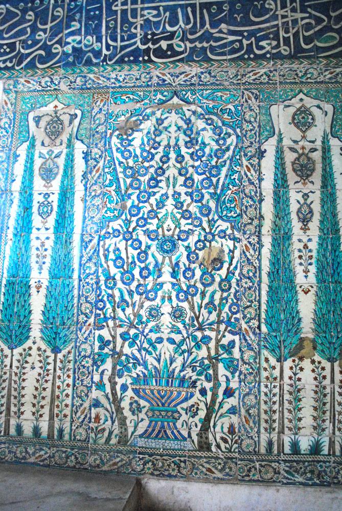 ハレムの内装 イズニックタイル