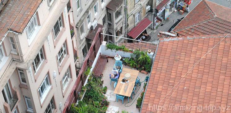 ガラタ塔から見下ろす新市街