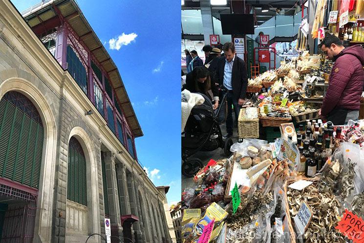 フィレンツェ 中央市場の外観と内部