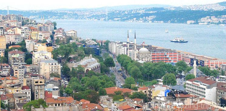 ガラタ塔からの景観