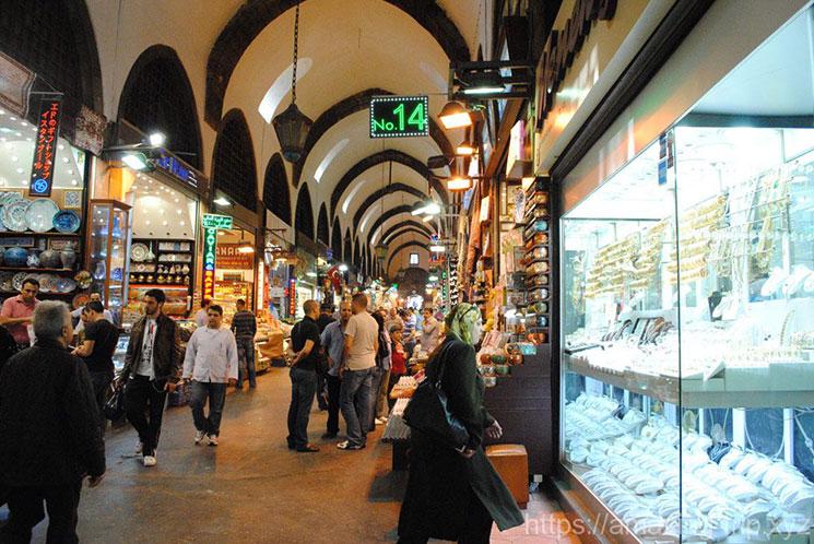 エジプシャンバザール 市場の景観