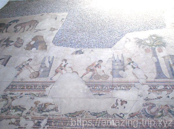 床のモザイク画
