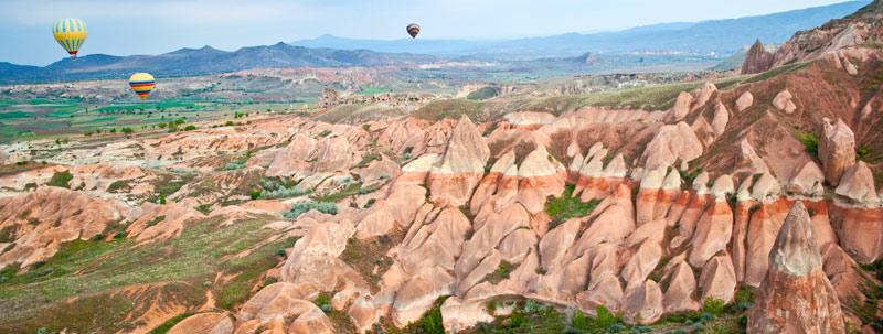 カッパドキア 気球からの景観